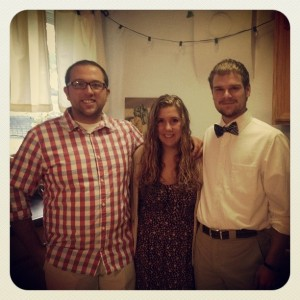 Zach Farley (left) with 2013-2014 Community Members & LVs, Megan McShane and Tom Iven