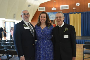 Award recipients, from left, Dan Brenner, Kerry Conroy, and Br. Joseph Mahon, FSC